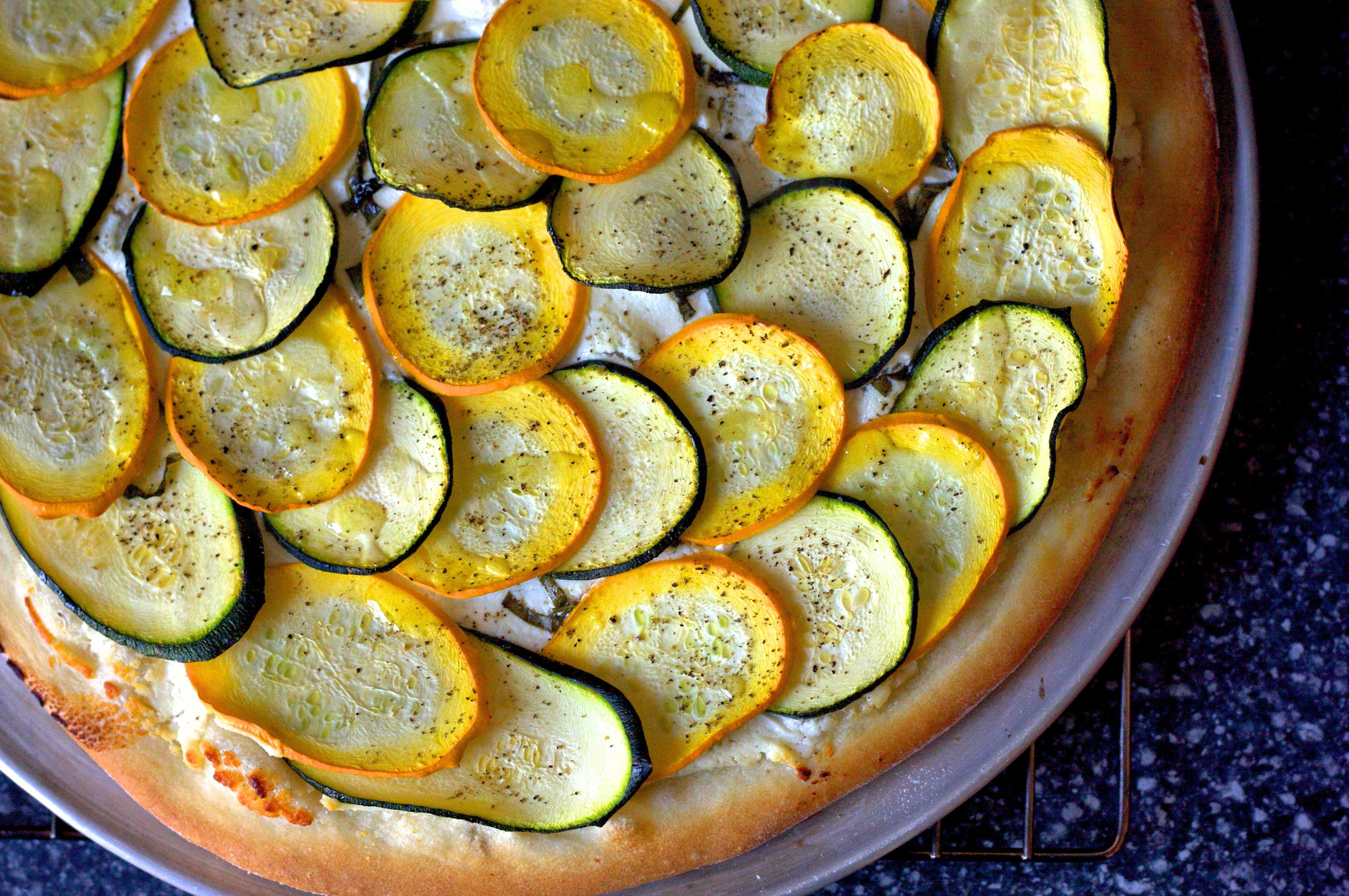 Lemony Zucchini Goat Cheese Pizza Smitten Kitchen