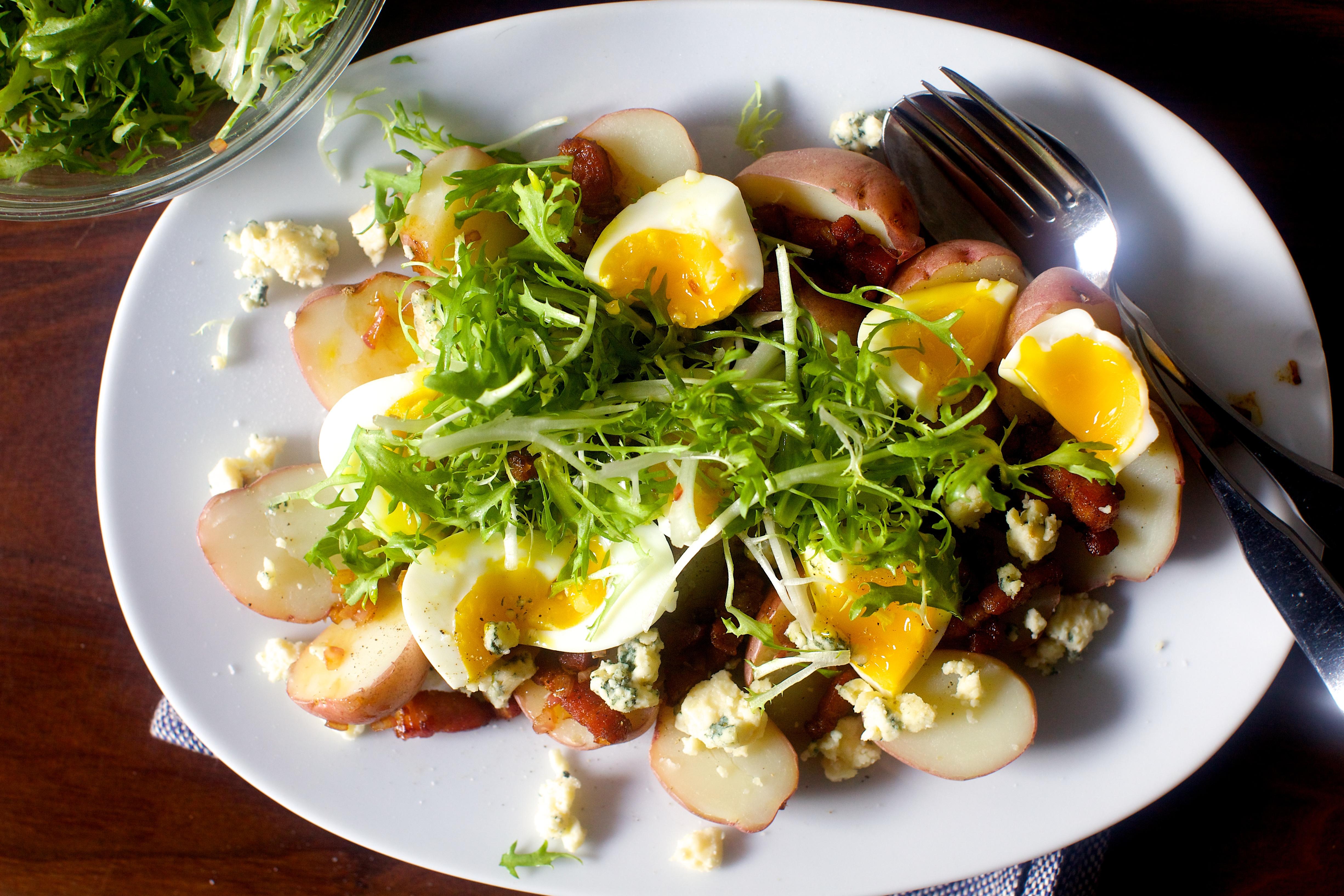 Potatoes With Soft Eggs And Bacon Vinaigrette Smitten Kitchen