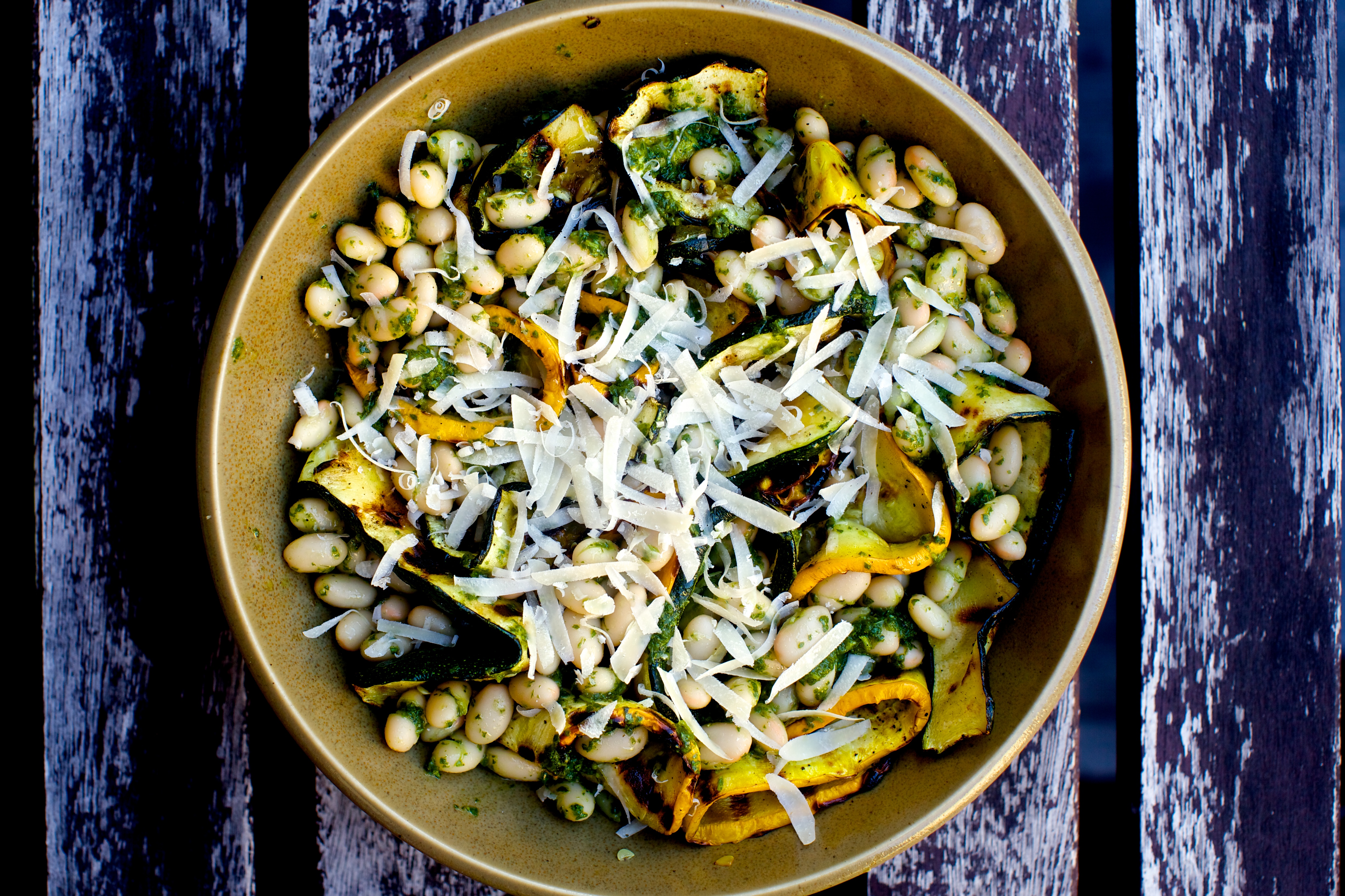 Grilled Zucchini Ribbons With Pesto And White Beans Smitten Kitchen