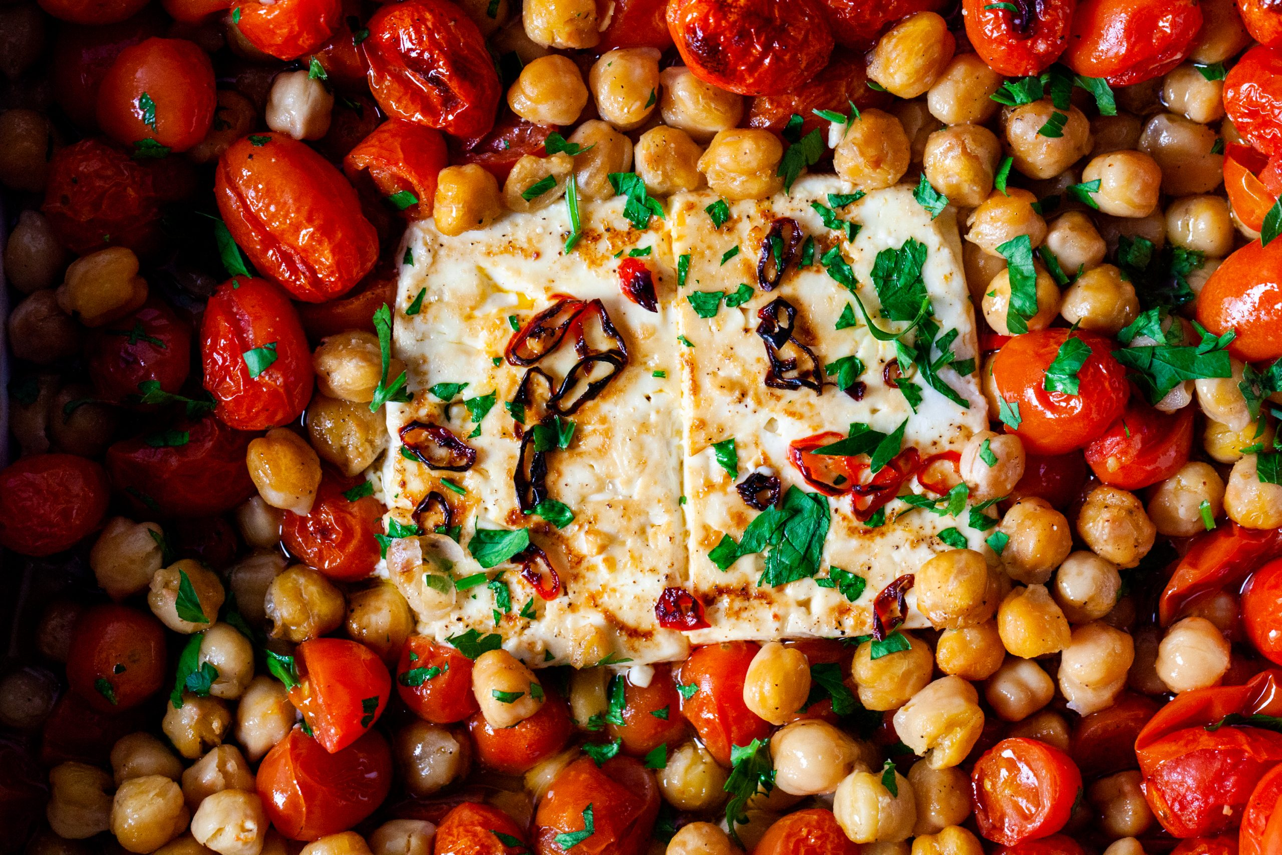 baked feta with tomatoes and chickpeas – smitten kitchen
